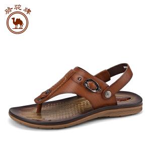 骆驼牌男鞋 夏季新品日常休闲男凉鞋男士 露趾透气沙滩鞋子
