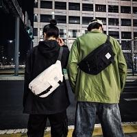 男包斜挎潮个性街头潮流单肩挎包女嘻哈大容量胸包腰包小背包