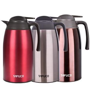 日本泰福高不锈钢保温壶家用热水瓶暖水壶超大容量开水壶保温瓶2L