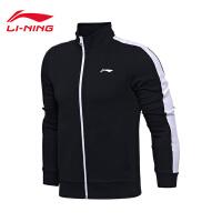 李宁卫衣男士2017新款运动生活系列开衫长袖外套立领针织运动服AWDM519