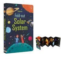 Usborne Fold-out Solar System 太阳系折叠书 儿童科普书籍 百科知识英语版 儿童英文原版图