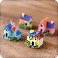 微景观摆件小房子别墅 多肉苔藓微景观DIY迷你庭院房屋配件