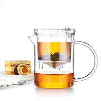 尚明时尚飘逸杯EC21自动过滤泡茶壶耐热玻璃茶壶可拆洗玲珑套装功夫茶具EC-21