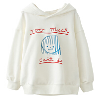 男童纯棉卫衣秋季儿童字母印花连帽卫衣洋气潮装