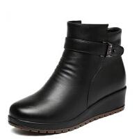 中老年短靴防滑女鞋大码加绒平跟棉靴女 秋冬新款妈妈鞋棉鞋