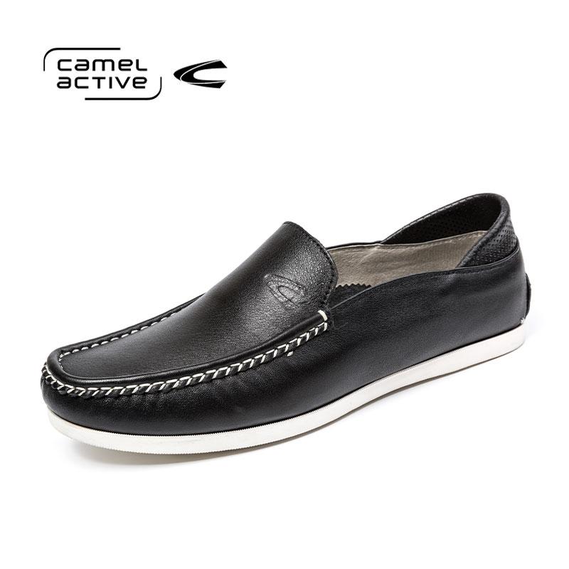 骆驼动感(camel active)男懒人鞋套脚豆豆驾车鞋休闲牛皮单鞋