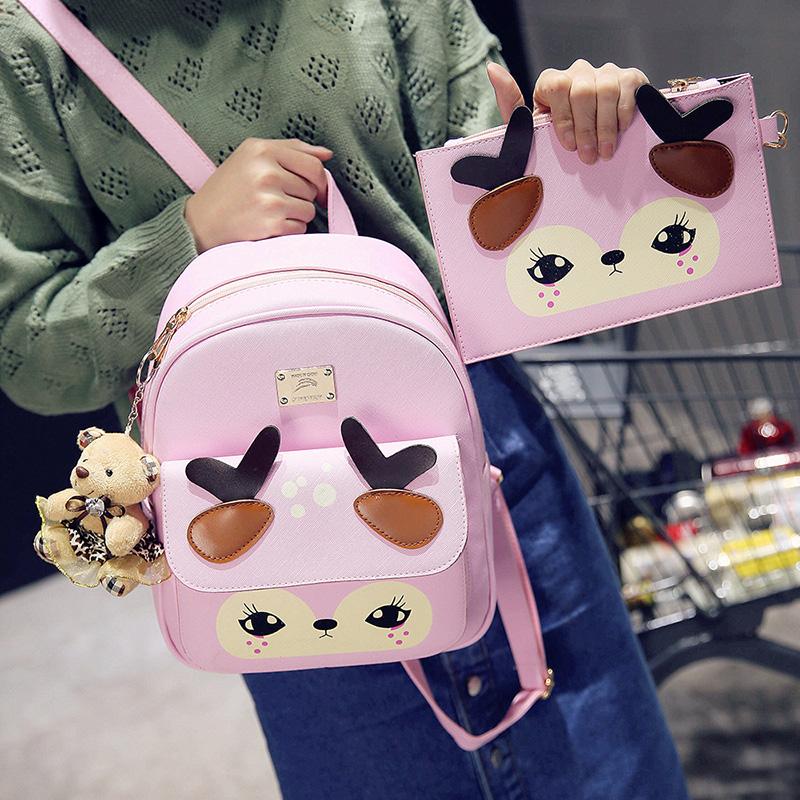 韩版儿童背包女童休闲时尚小学生旅行双肩包可爱公主女孩包包潮萌