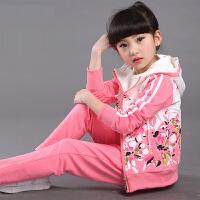 童装女童运动卫衣套装秋装衣服