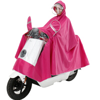 电动摩托车雨衣 双帽檐雨披男女单人骑行双面罩加大雨衣