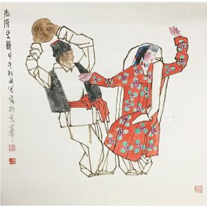 马西光《舞蹈》著名画家