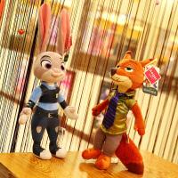 兔子朱迪狐尼克毛绒玩具布娃娃玩偶女生正版迪士尼疯狂动物城公仔