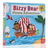 海盗船大冒险 小熊很忙系列进口英文原版 纸板书Bizzy Bear Pirate Adventure! 绘本 低幼儿童