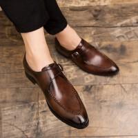 皮鞋男鞋夏季新款青年男士潮鞋英伦风