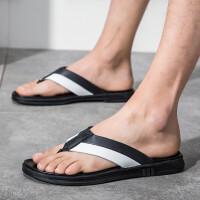 夏季拖鞋男韩版潮流百搭个性沙滩鞋时尚外穿人字拖防滑室外皮凉拖