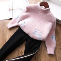 女童针织衫宝宝保暖毛衣儿童宽松打底上衣童装
