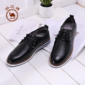 骆驼牌男鞋 新品日常休闲鞋男系带低帮皮鞋