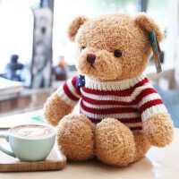 泰迪熊抱抱熊公仔小熊毛绒玩具小号熊熊玩偶布娃娃送女友生日礼物