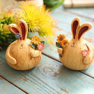 摆件 家居客厅卧室兔子小摆件酒柜电视柜儿童房摆设生日礼物装饰品 创意家饰