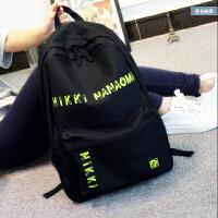 新款韩版时尚潮流双肩包女中学生书包日韩学院风简约旅行包背包男