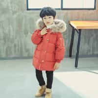 男童棉衣儿童冬装中长款宝宝冬季羽绒女