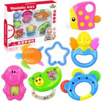 0-1岁新生儿牙胶摇铃礼盒婴幼儿宝宝手摇铃套装