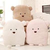 【全店支持礼品卡】方熊抱枕被子夏季两用空调被创意靠垫空调毯抱枕三合一送女生礼物