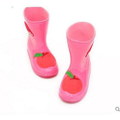 时尚可爱橡胶耐磨防滑防水儿童雨鞋小学生雨靴小童套鞋 可礼品卡支付 品质保证售后无忧 支持货到付款