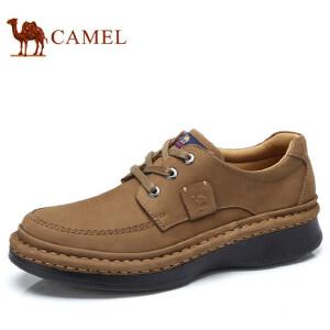 camel 骆驼男鞋 秋季新款休闲鞋男低帮真皮手工缝制休闲皮鞋男