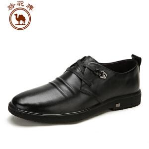 骆驼牌男鞋 秋冬新款 头层牛皮日常休闲皮鞋舒适耐磨