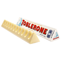 Toblerone瑞士三角 亿滋进口 白巧克力含蜂蜜及巴旦木糖100g (瑞士进口)  休闲零食