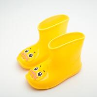 №【2019新款】冬天小朋友穿的加绒套保雨靴小孩小童雨鞋雨靴中筒水鞋女冬天儿童女雨鞋女幼儿