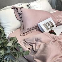 床上用品四件套冰丝床单公主风欧式双人丝滑天丝裸睡被套