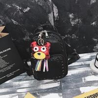 铆钉双肩包女韩版2018新款休闲旅行包可爱百搭学生书包迷你小背包