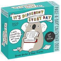 【现货】英文原版 不一样的每一天 2020年翻页日历 笑话/游戏/小知识/动物漫画 每天一页 It's Differe