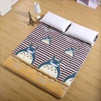 榻榻米床垫 斜纹磨毛可折叠床垫 学生用 单人 双人床褥 垫