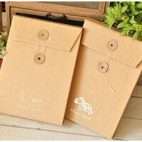 韩版文具 小动物手风琴式牛皮纸袋diy粘贴A5相册