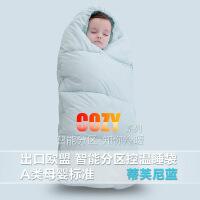 婴儿睡袋秋冬加厚宝宝睡袋儿童保暖防踢被神器新生儿抱被外出包被