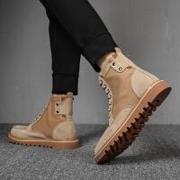 马丁靴男英伦风高帮潮百搭黑色男士沙漠工装靴子中帮男鞋复古短靴