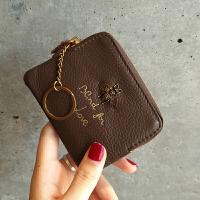 零钱包女欧美拉链小钱包女短款迷你多功能硬币包皮卡包
