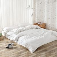 棉麻简约日系良品风白色纯棉水洗棉四件套全棉床单床笠式床上用品 2.0m(6.6英尺)床 床单款