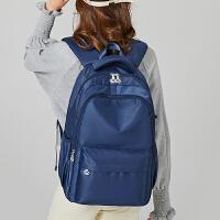 森系双肩包女高中学生书包初中大容量旅行背包