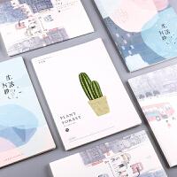 韩国小清新大号笔记本子创意a4软抄本简约16Kb5记事车线本学生用
