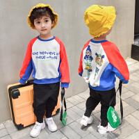 童装男童春秋装套头卫衣儿童洋气上衣帅气宝宝秋季长袖潮