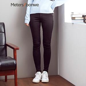 【1件3折到手价:26.7】美特斯邦威休闲裤女秋冬装韩版时尚紧身显瘦高腰长裤潮248677