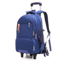拉杆包可拉行李包中学生拉杆书包六轮爬楼梯男生书包可拆卸两用
