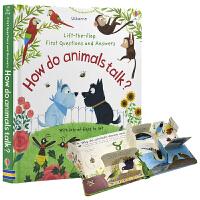 Usborne First Q&A How Do Animals Talk 幼儿问与答 低幼百科生活常识 动物们如何沟