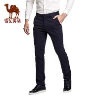 骆驼&熊猫联名系列男装 时尚中高腰纯色休闲裤男士修身小脚长裤子