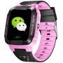 Y21儿童智能定位电话手表1.44寸彩屏触摸大彩屏手机 粉