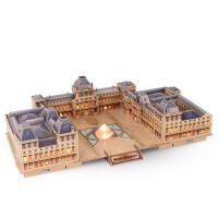 拼插手工diy模型拼图 3d立体建筑模型 拼装