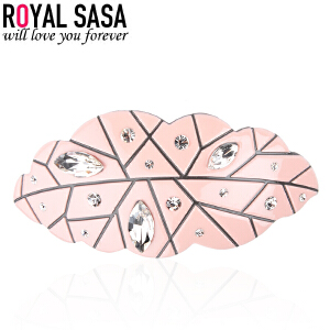 皇家莎莎RoyalSaSa马尾夹弹簧夹顶夹头饰韩版时尚人造水晶发夹发饰